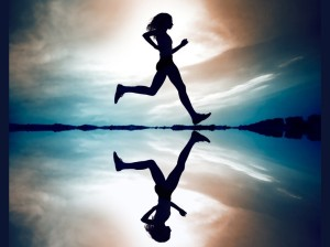 running reflection